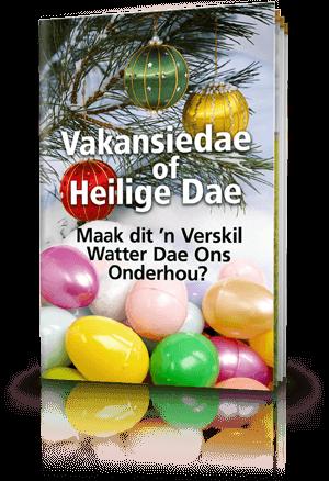 Vakansiedae of Heilige Dae